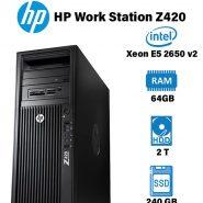 کیس استوک HP Workstation Z420 Aگرید +A در حد نو سفارش آمریکا با بهترین کیفیت و قیمت و گارانتی